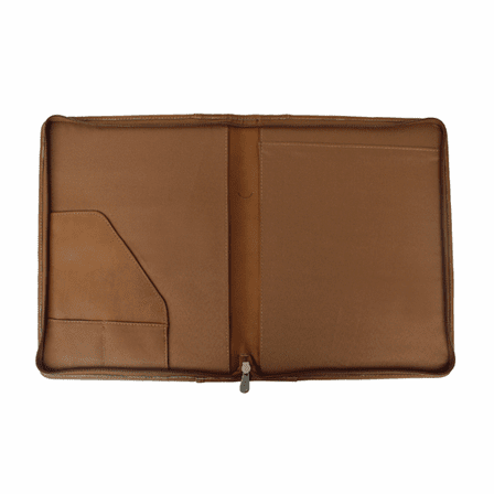 Zippered Leather Padfolio by Piel