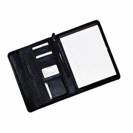 Zippered Leather Padholder & Organizer by Royce Leather