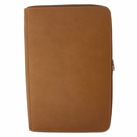 Zippered Legal Size Leather Notepad by Piel - Discontinued