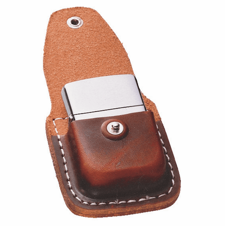 Zippo Lighter Pouch with Clip - Brown