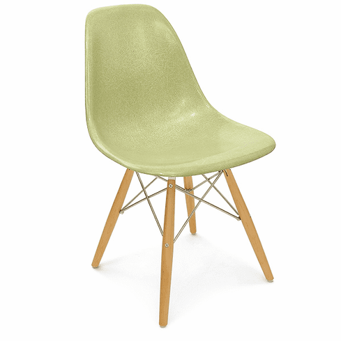 CELERY FIBERGLASS SIDE CHAIR
