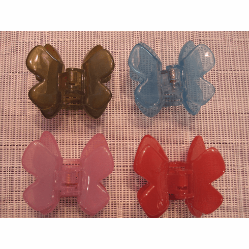 French Atelier small butterfly pinch clip