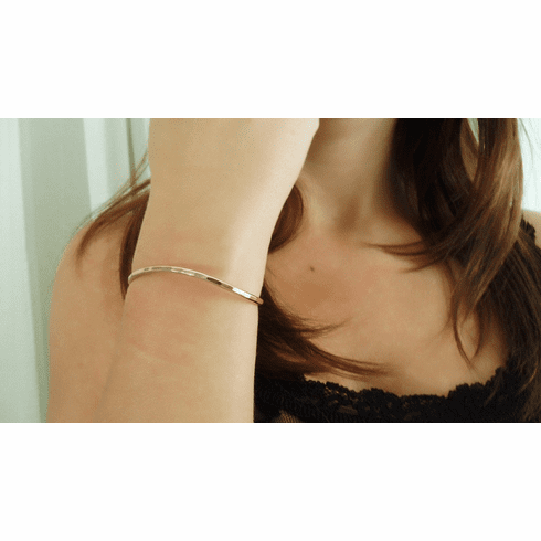Small gold fill cuff bracelet