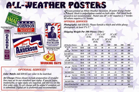 All Weather Posters