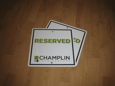 Digital Printed Parking Signs
