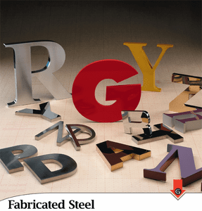 Fabricated Stainless Steel Letters