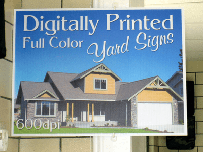 Full Color Print Yard Signs