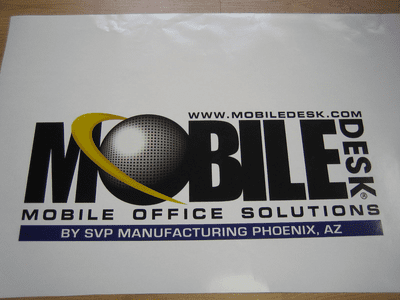 Full Color Printed Vinyl Contour Cut