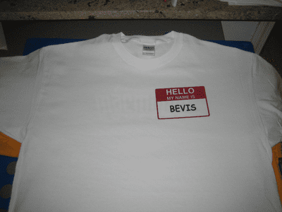 Hello My Name Is Label T-shirt