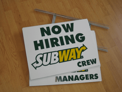 Now Hiring Yard Signs