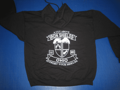 Ohio Iron Shields Logo Hoodies
