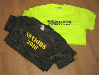 Seniors School Spirit T-shirts