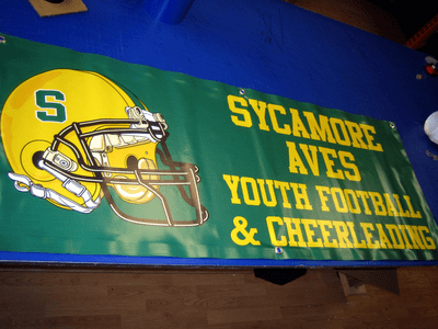 Sycamore AVES Football & Cheerleading Banner