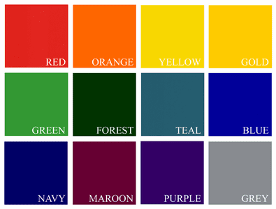 T-shirt Print Colors