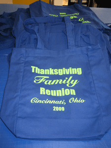 Tote Bags for Reunion