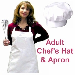 Adult Chef's Hat and Apron Combo