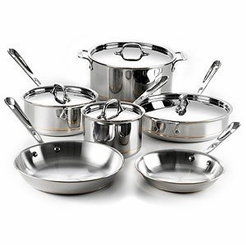All-Clad 10-Piece Copper-Core Set (600822 SS)