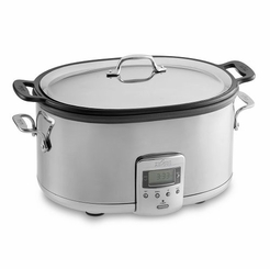 All-Clad 6.5 Quart Stainless Slow Cooker with Ceramic Insert (99009)