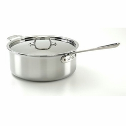 All-Clad Stainless 6-Quart Deep Saute Pot with Lid (4206)