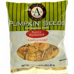 * Amaral's Bakery Spicy Roasted Pumpkin Seeds 3 oz.