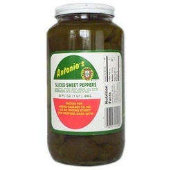 Antonio's Sliced Sweet Green Peppers 32 oz.