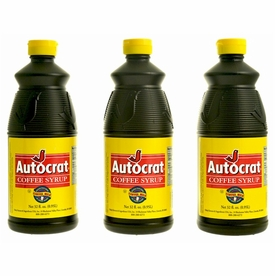 Autocrat Coffee Syrup 3-32 oz. (Quart Size) Bottles