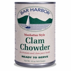 Bar Harbor Manhattan Style Clam Chowder 15 oz.