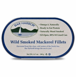 Bar Harbor Wild Smoked Mackerel Fillets 6.7 oz.