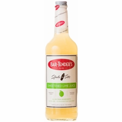 * Bar Tender's All Natural Sweetened Lime Juice Premium Cocktail Mix 750 ml.