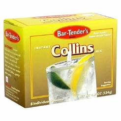 Bar-Tender's Instant Collins Cocktail Mix 4.7 oz. (2 Boxes)