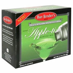 * Bar-Tender's Silver Shaker Collection Instant Apple-tini Martini Cocktail Mix 6.4 oz. (2 Boxes)