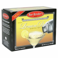 Bar-Tender's Silver Shaker Collection Instant Lemon Drop Martini Cocktail Mix 5.3 oz. (2 Boxes)