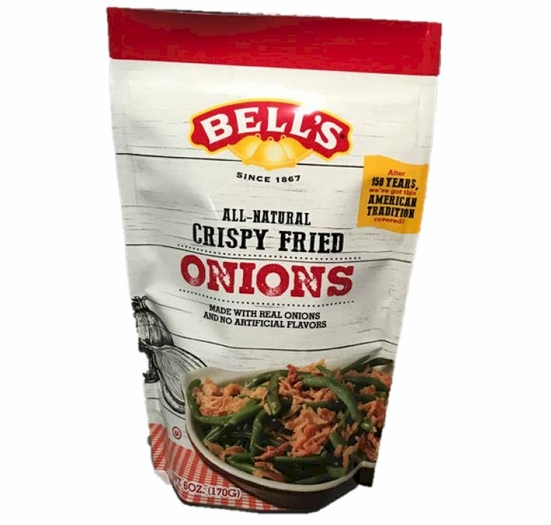 Bell's All-Natural Crispy Fried Onions 6 oz.