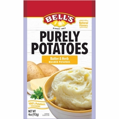 Bell's Purely Potatoes Butter & Herb Instant Mashed Potatoes (2 Pack)