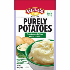 Bell's Purely Potatoes Sour Cream & Chive Instant Mashed Potatoes (2 Pack)