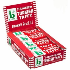 Bonomo Turkish Taffy Strawberry 24/1.5 oz. Box