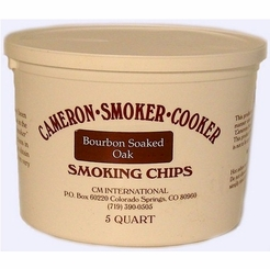 Bourbon Soaked Oak Indoor Smoking Superfine Woodchips 5 QUART
