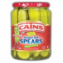 * Cains Kosher Dill Spears 24 oz.