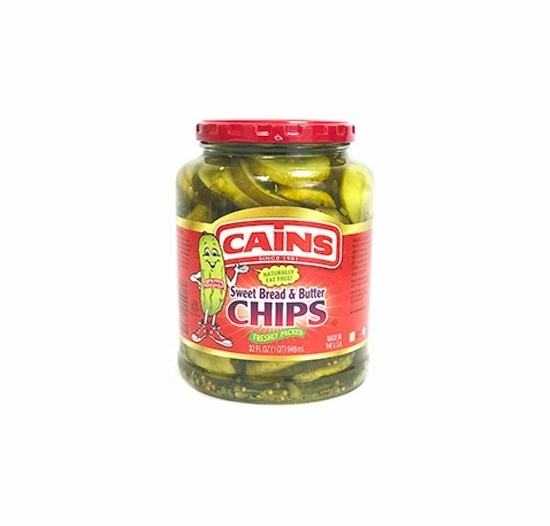 Cains Sweet Bread & Butter Chips 32 oz.