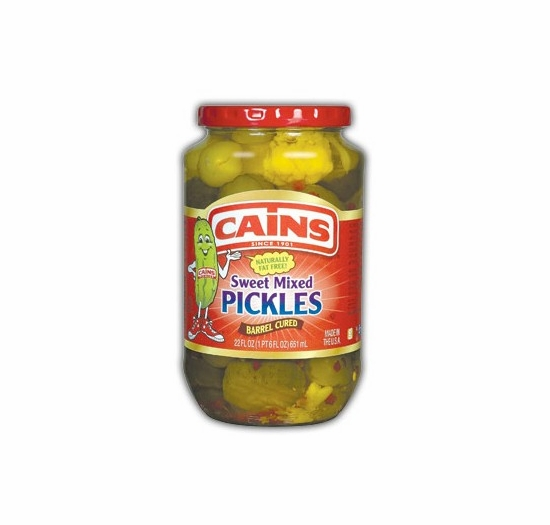 Cains Sweet Mixed Pickles 22 oz.