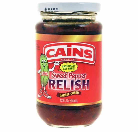 Cains Sweet Pepper Relish 12 oz.