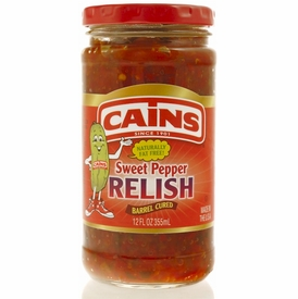 Cains Sweet Red Pepper Relish 12 oz.