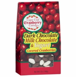 * Cape Cod Cranberry Dark Chocolate/Milk Chocolate & Yogurt Covered Cranberries Blend 5 oz.
