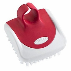 Chef'n PalmBrush Vegetable Brush, Red