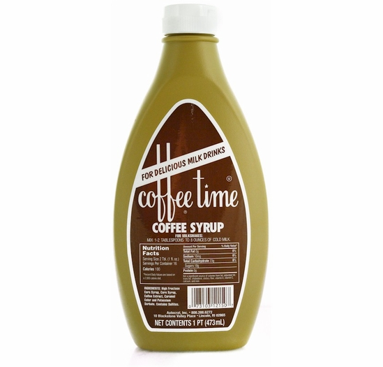 Coffee Time Coffee Syrup 6-16 oz. Bottles
