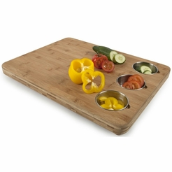 * Core Bamboo Pro-Chef Butcher's Block with 3 Prep Bowls