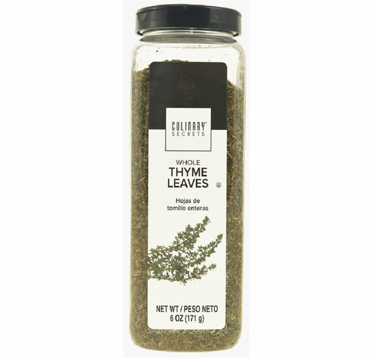Culinary Secrets Whole Thyme Leaves 6 oz.
