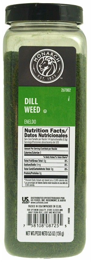 Monarch Dill Weed 5.5 oz.