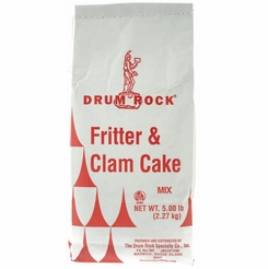 Drum Rock Products Fritter & Clam Cake Mix 5 lb. Bag