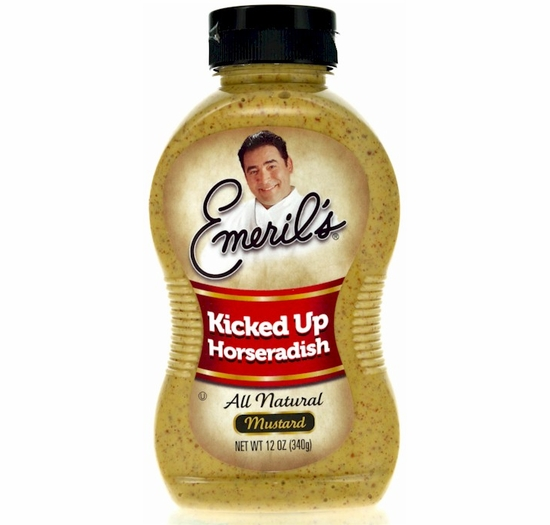 Emeril's Kicked Up Horseradish Mustard 12 oz.